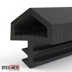 Burlete para puerta y ventana STD05 negro
