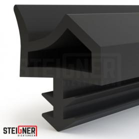 Burlete para puerta y ventana STD06 negro