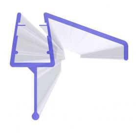 Junta para cabina de ducha UK21 para vidrio de 3,5-7 mm de espesor