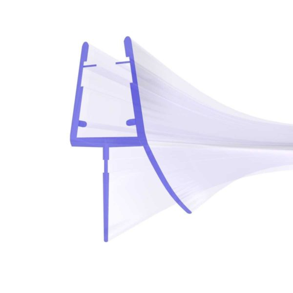 Steigner Junta para cabina de ducha curvada UK03 para vidrio de 6-8 mm de espesor