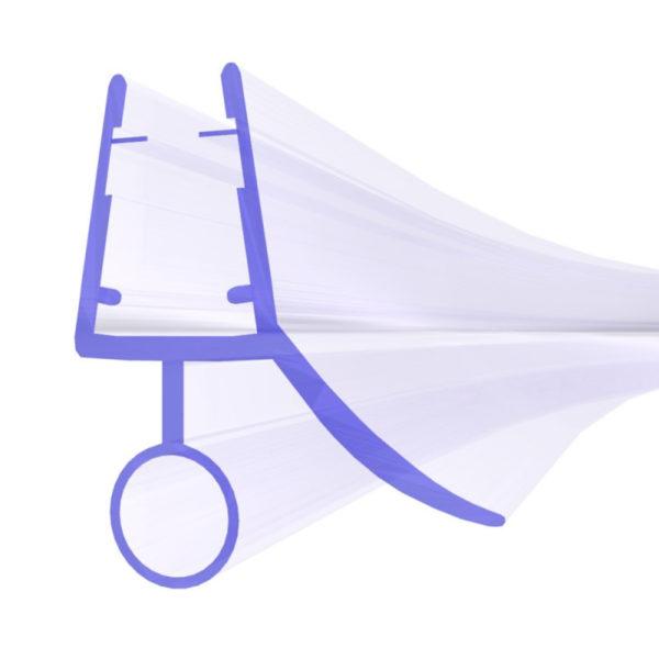 Steigner Junta para cabina de ducha curvada UK18 para vidrio de 3,5-5 mm de espesor