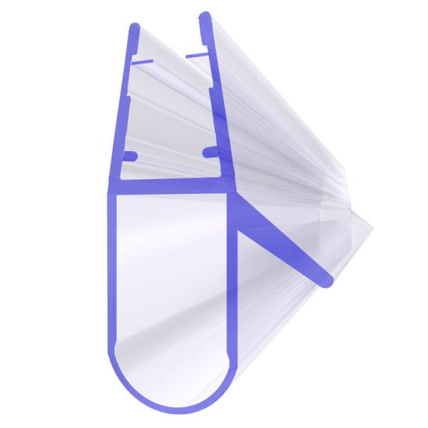 Steigner Junta para cabina de ducha UK17 para vidrio de 6-8 mm de espesor