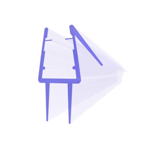 Steigner Junta para cabina de ducha UK20-08 para vidrio de 8-9 mm de espesor