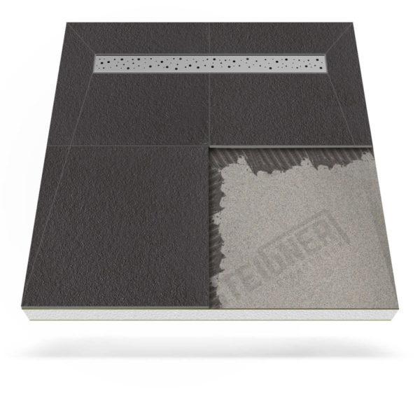 Steigner Plato de ducha Mineral BASIC con desagüe lineal