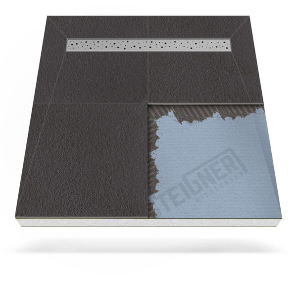 Steigner Plato de ducha Mineral PLUS con desagüe lineal