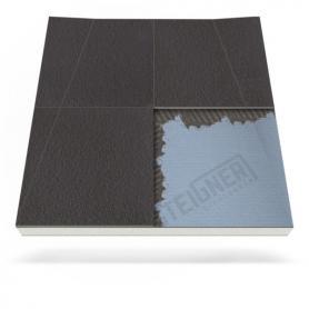 Plato de ducha Mineral PLUS para desagüe en pared