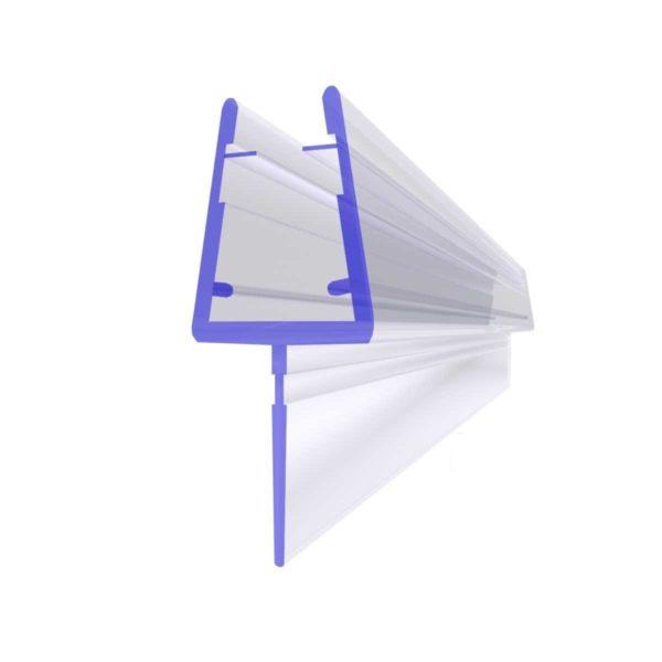 Steigner Junta para cabina de ducha UK10 para vidrio de 6-8 mm de espesor