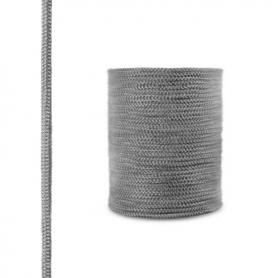 Cordón de fibra de vidrio SKD02 gris oscuro 6 mm