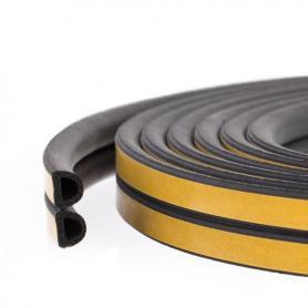 Junta de caucho SD-55 NEGRO celular perfil poroso para los coches