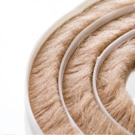 Junta de cepillos 11-12 mm beige