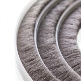 Junta de cepillos 11-12 mm gris