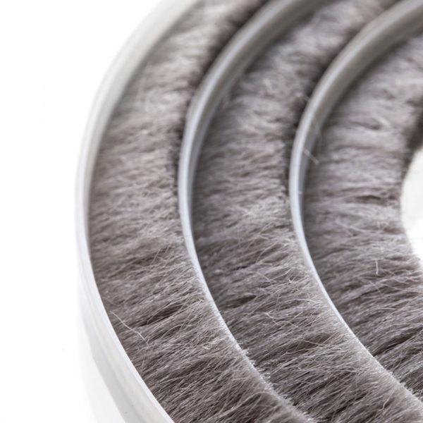 Steigner Junta de cepillos 11-12 mm gris