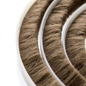 Junta de cepillos 11-12 mm marrón