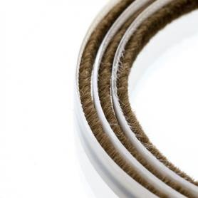 Junta de cepillos 4 mm marrón