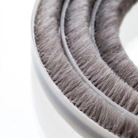 Junta de cepillos 7-8 mm gris