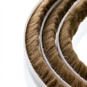 Junta de cepillos 7-8 mm marrón