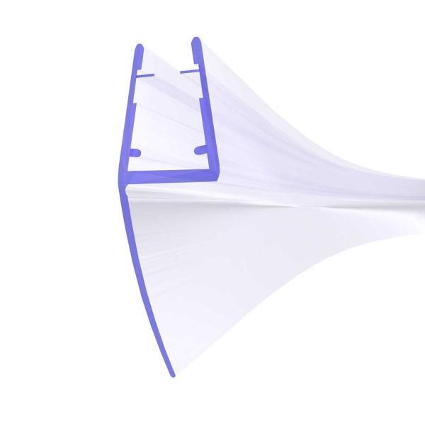 Steigner Junta para cabina de ducha curvada UK05 para vidrio de 6-8 mm de espesor