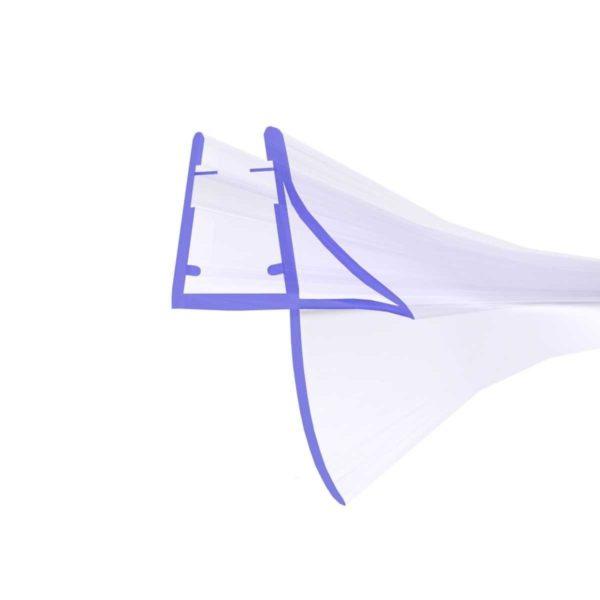 Steigner Junta para cabina de ducha curvada UK09 para vidrio de 6-8 mm de espesor