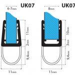 Junta para cabina de ducha UK07 para vidrio de 6-8 mm de espesor nr.3