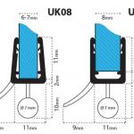 Junta para cabina de ducha UK08 para vidrio de 6-8 mm de espesor nr.2