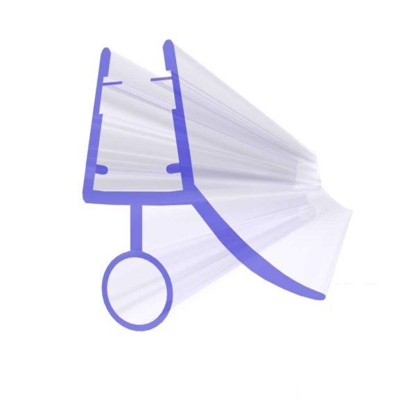 Steigner Junta para cabina de ducha UK08 para vidrio de 6-8 mm de espesor