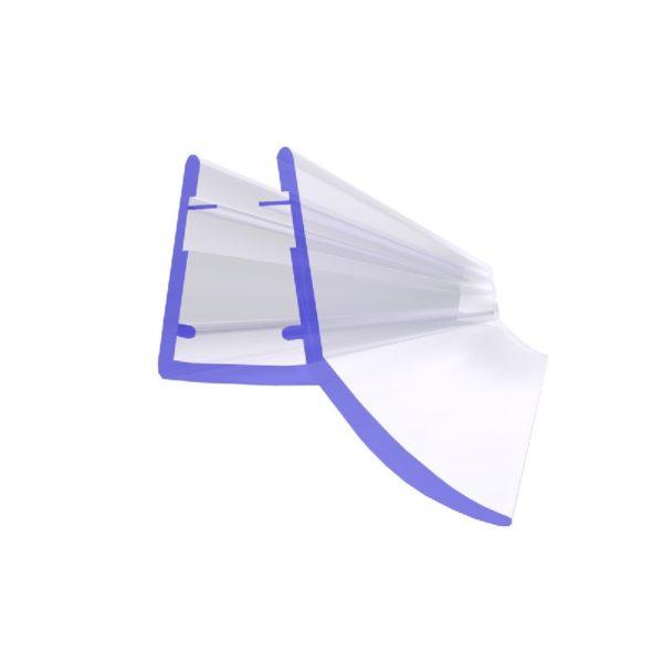 Steigner Junta para cabina de ducha UK12 para vidrio de 6-8 mm de espesor