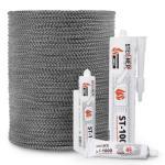Cordón de fibra de vidrio SKD02 gris oscuro 8 mm nr.2