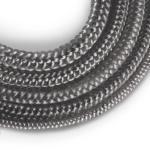 Cordón de fibra de vidrio SKD02 gris oscuro 8 mm nr.3